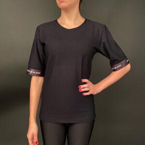 мрежеста черна тениска